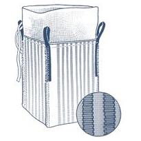 ventilerad storsäck med krage och plan botten